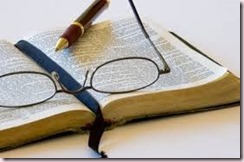 Bible, Glasses, Pen