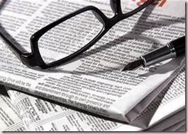 newspaper, glass