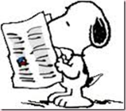 snoopy, newspaper