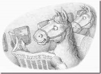 horse, newspaper