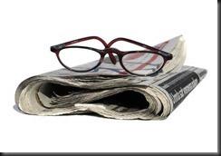 newspaper, glass1