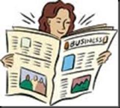 woman, newspaper