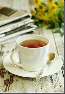 Tea, Flowers, Newspaper