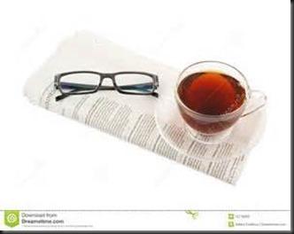 Tea, Glasses, Newspaper