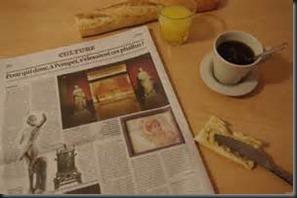 Coffee, Juice, Newspaper
