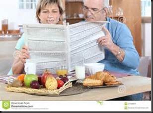 Couple, Newspaper