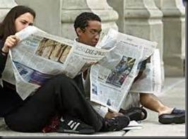 Couple, Newspaper1