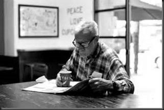 Gentleman, Coffee, Newspaper