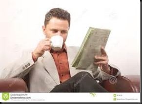 Man Coffee, Newspaper