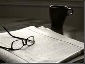 Glasses, Coffee, Newspaper