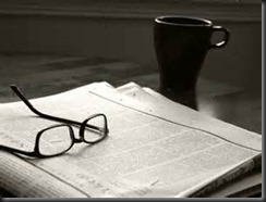 Glasses, Coffee, Newspaper