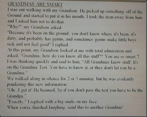 Grandmas are Smart