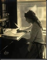 Vintage Woman Writing