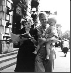 Wife, Baby, Soldier, Newspaper