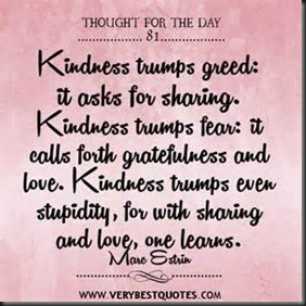 Kindness Trumps