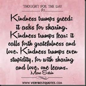 Kindness Trumps