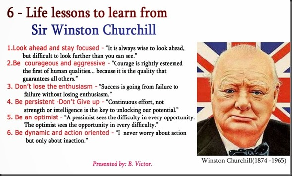6 - Life lessons to learn from Sir Winston Churchill