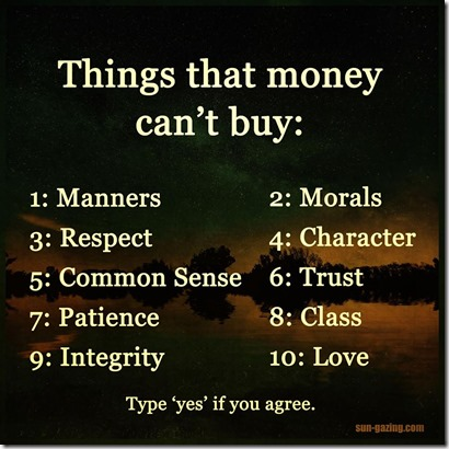 Things That Money Can't Buy