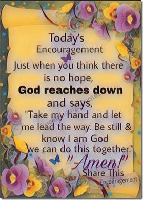 Today's Encouragement