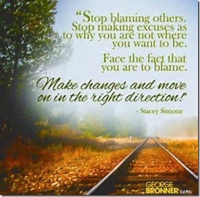 Stop Blaming
