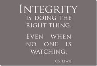 Integrity Is